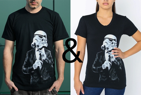 Smart trooper matching t-shirt set, girlfriend boyfriend shirts, husband wife matching set, gift for couples, wedding gift, his and hers