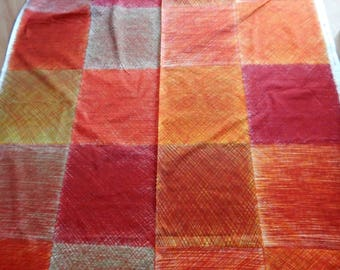 Marimekko fabric, by the yard, cotton fabric, upholstery fabric, orange print