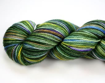 Scenic Route--hand dyed sock weight yarn, 2 ply merino, cashmere, nylon (400yds/100gm)