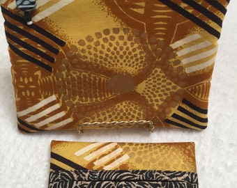 African Fabric Gift Set, Zippered Pouch, Cosmetic Bag, Pocket Tissue Holder, Toiletry Bag, Purse Accessory, Friendship Gift Set