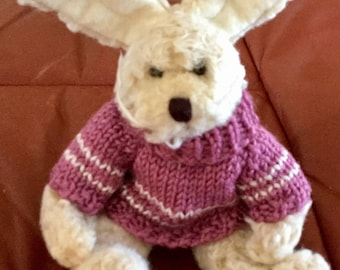 Vintage Heartfelt Collections Rabbit with Pink, Sweater, 1999, 11 inches tall