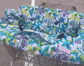 High Chair Cover Shopping Cart cover  for boy or girl..... Shake your Tail Feathers Caribbean...  michaelmooodesign