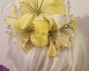 Lemon, Lemon hat, Lemon fascinator, Faux fruit, Faux fruit hat, MsFormaldehyde, Pin up, Fruit, Fruit hat, Fruit fascinator
