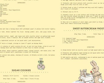 Bunnies and Cream, By Lauren Nash Bunnies Recipes Yellow C6024-Yellow - Fat Quarter