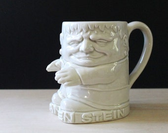 The Franken Stein. Vintage 1970s Fitz and Floyd beer stein or mug featuring Frankenstein.