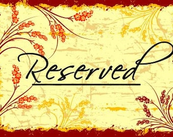Reserved for Tatiana