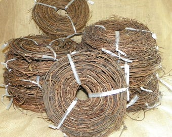 180 Feet THIN Natural Grapevine Garland, 12 Rolls of Rustic Decorations for Weddings, Pavilions, Garden Trellis, Wreaths Balls
