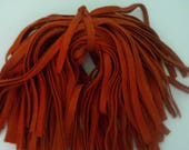 97 Hand Dyed Wool Rug Hooking Strips Primitive Pumpkin
