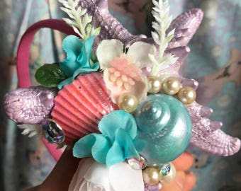 Pastel Mermaid Princess Starfish Headband