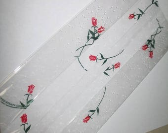 Red Rosebud Cellophane Clear Bags/Packages