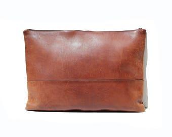 Vintage Brunt Sienna Brown Leather Portfolio Organizer bag