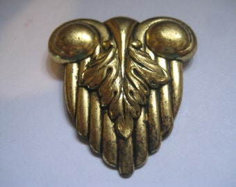 Art Deco Brass Dress Clip Antique and Lovely