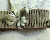 RUFFLE SALE 20% OFF Chocolate Crepe Paper Ruffles - 1 Inch Wide Vintage Dennison Brown Paper Ruffle Trim - Rustic Wedding Ruffle Garland