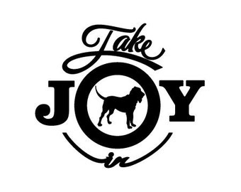 Take Joy In Dog Bloodhound Decal