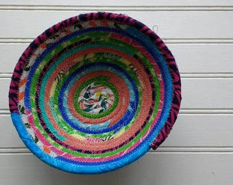 "5.5"" Coiled Fabric Bowl - Mixed Brights"
