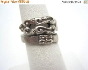 SALE Vintage Spoon Ring - Wrap, Internation Silver
