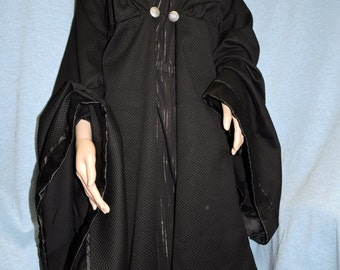 Custom made Professor Mcgonagall from Harry Potter 2 pc. black robe cape cloak and long black dress