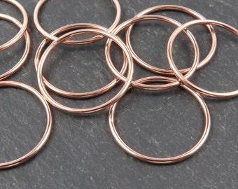 Rose Gold Filled Stacking Ring 17.75mm ~ Size 5/J/49 (CG8837)