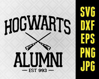 Harry Potter SVG Iron On Decal Cutting File / Clipart in Svg, Eps, Dxf, Png, Jpeg for Cricut Silhouette Universal Studios Hogwarts Alumni