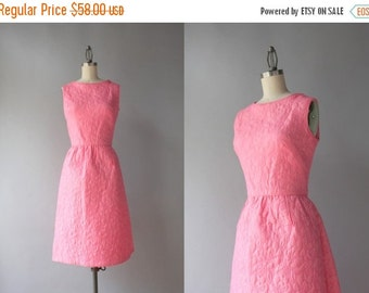 STOREWIDE SALE 1960s Dress / Vintage 60s Pink Sleeveless Bell Skirt Dress / Sixties Bubble Gum Pink Dress with Pockets small S