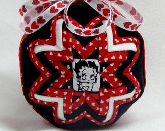 Betty Boop Quilted Ornament