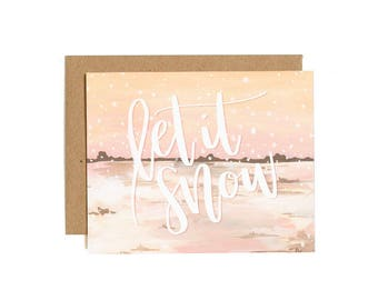 Let It Snow Illustrated Card // 1canoe2