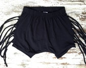 Fringe Shorts-Black