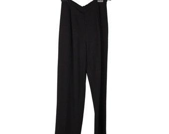 Authentic VALENTINO Vintage Black HIGH WAIST pants trousers size 8