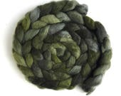 Pre-Order Colorway, Green Shadows, YOUR CHOICE of Fiber! Handpainted Spinning or Felting Fiber, 4 ounces
