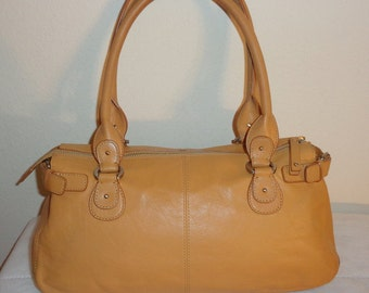 Liz Claiborne allsoft premium genuine leather roomy Boston bag  satchel shoulder bag purse handbag flawless very clean vintage