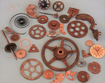 Vintage Watch Parts Vintage Clock Parts Brass Clock Gears Wheels Steampunk Jewelry