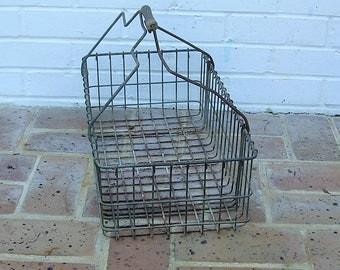 Antique Vintage Metal Basket Antique Vintage Farm Basket With Wooden Handle Egg Basket
