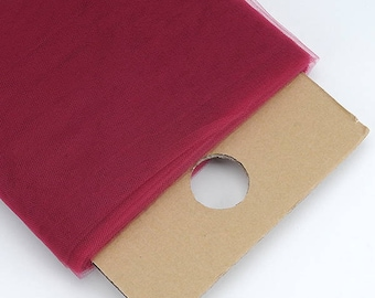 54 x 40 yd  Bolt of High Quality  Tulle -- Burgundy