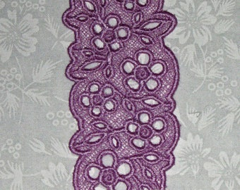 Lace Bookmark, May Flowers, done in Lavender