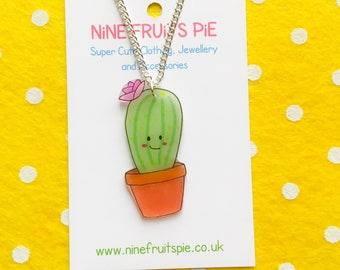 Medium super kawaii flowering cactus earrings