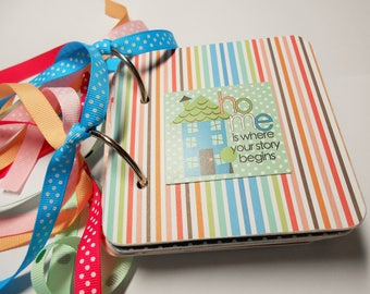 Family Mini Album Chipboard Scrapbook, Family Mini Album, Family Scrapbook Album, Family Scrapbook, Family Photo Album, Family Brag Book