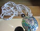 abalone milk glass bead