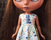 Hand Embroidered Sundress for Blythe Dolls