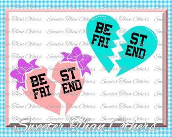 Best Friend Svg, Girl SVG,  baby cutting file Dxf Silhouette Cricut INSTANT DOWNLOAD, Vinyl Design, Htv, Scal, Mtc, Best Friends