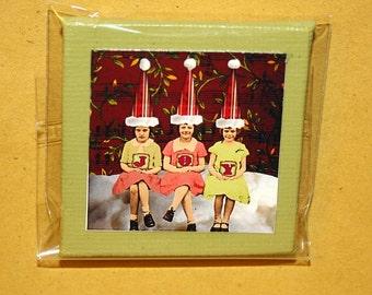 Joy Mini Canvas Magnet - Two Inch