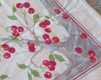 Vintage Cherry Tree Tablecloth