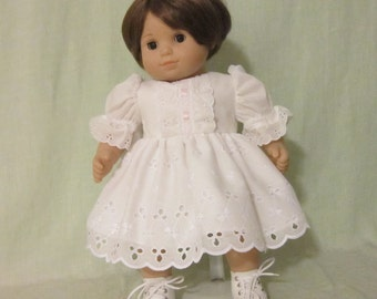 American Girl Bitty Baby Doll Dress Lots of Eyelet Lace