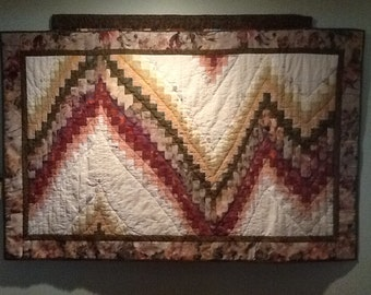Bargello wall quilt