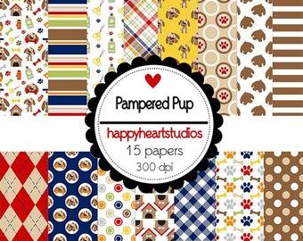 DigitalScrapbooking PamperedPup-InstantDownload