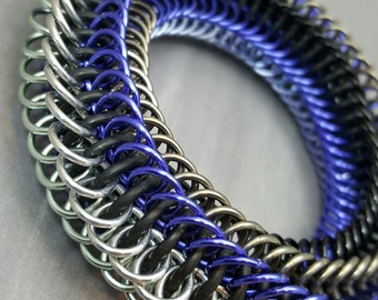 """Blackmaille Chainmaille Fidget Bracelet - """"Purple Haze"""""""