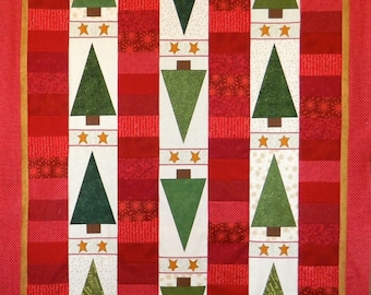PATTERN WINTER Tree Line CHRISTMAS Trees Quilt   We Combine Shipping