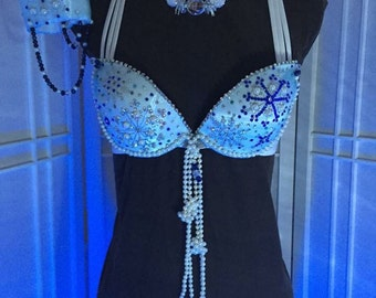 Create Your Own Custom Ice Queen Pageant Wear Winner of WBFF competition