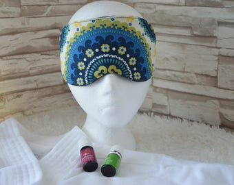 Bohemian Travel, Eye, Sleep Mask ~ Comfortable ~ Light Blocking ~ READY TO SHIP ~ Gift for her & Gift for him