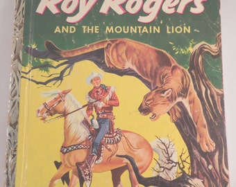 Little Golden  Book Roy Rogers and The Mountain Lion 1955