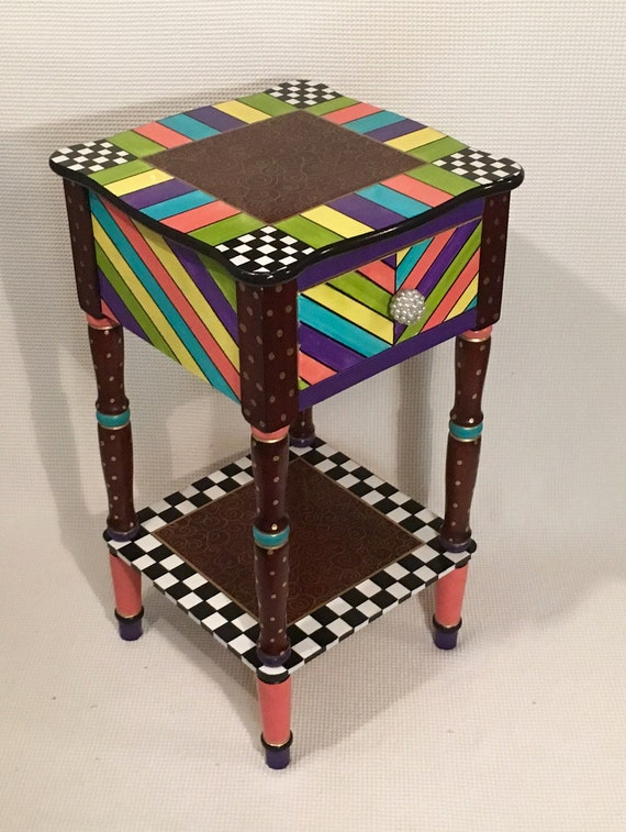 Whimsical painted furniture whimsical by michelespraguedesign for Accent furnitureable